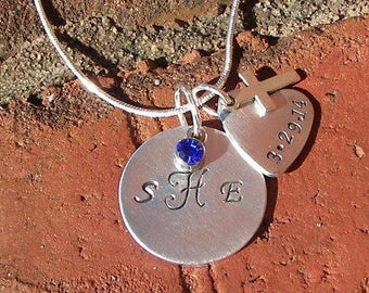 hand stamped jewelry, 925 Sterling silver , mother necklace, mothers jewelry, mommy necklace, mommy jewelry, mother jewelry, personalized