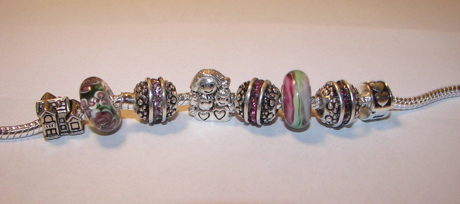 925 sterling silver, ballet shoe charm, european charm , pizza charm, european bead, fits snake chain bracelet
