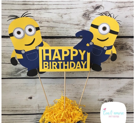 minions despicable me birthday party centerpieces minions rh catchmyparty com despicable me centerpieces