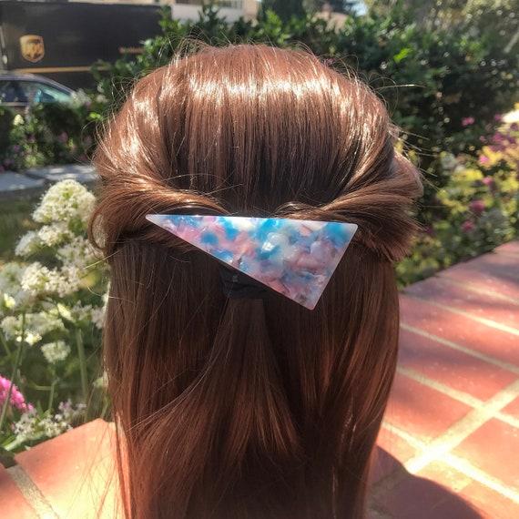 Women Hair Barrette Hair Barrette Triangle Hair Clip Barrette Adult Hair Clip Thin Hair Barrette Alligator Hair Clips Decorative Clip