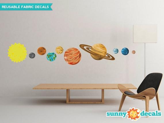 Tatuajes de pared de tela de sistema solar sistema de 9 | Etsy