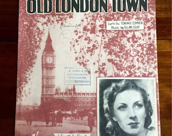 Vintage sheet music Vera Lynn 'That Autumn in Old London Town'