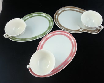 Vintage Seyei Fine China: Charming and Cheerful Luncheon or Snack Sets Plate sets