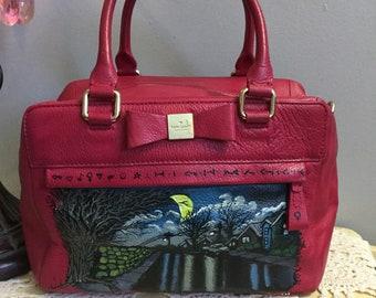 e2800f76f2ba Custom Handpainted Kate Spade Handbag