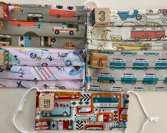 Camper/Van Fabric Mask (Listing is for 1 mask from 5 premium fabric choices!)