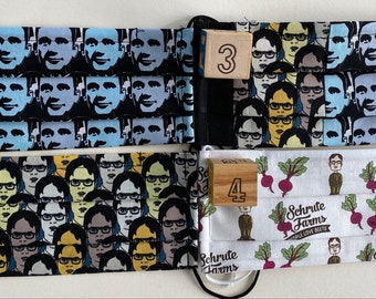 The Office Theme Mask (Listing is for 1 mask from 4 premium fabric choices!)