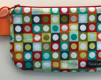 X-Small Geometric Dot Zip Pouch