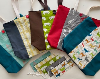 Organic Cotton Mask and Tote Bag Set (5 fabric choices!)