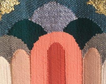 Original woven wall hangings by Maryanne Moodie