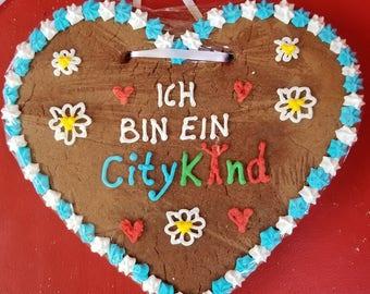 Gingerbread Heart - 8 inch (Lebkuchen)