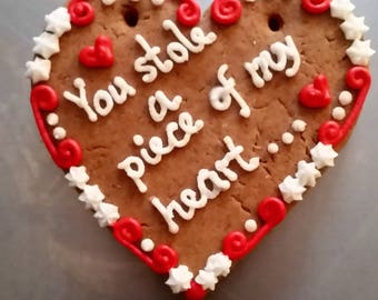 10 Gingerbread Hearts  - 5 inch - fully customizable