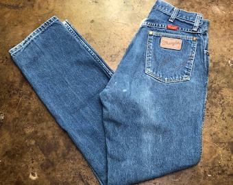 92b73bbde Wrangler Jeans Vintage 80s 90s High Waist Rise Wedgie Fit USA Made Indigo  Denim Women's Size 27 X 30