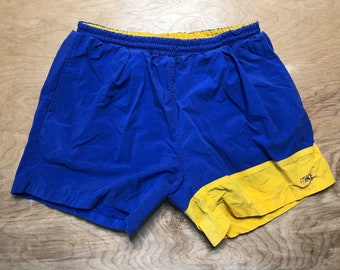 NEW size Med /& Large Navy  Blue Vintage 100/%  silky nylon sprinter shorts