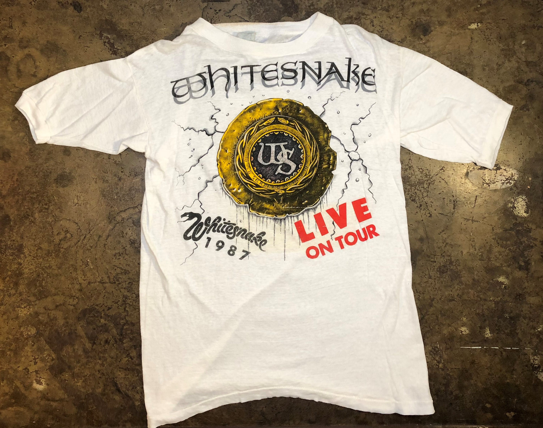 e757498f4ae White Snake Tour Shirt 1987 80s Vtg Live Rock Heavy Metal