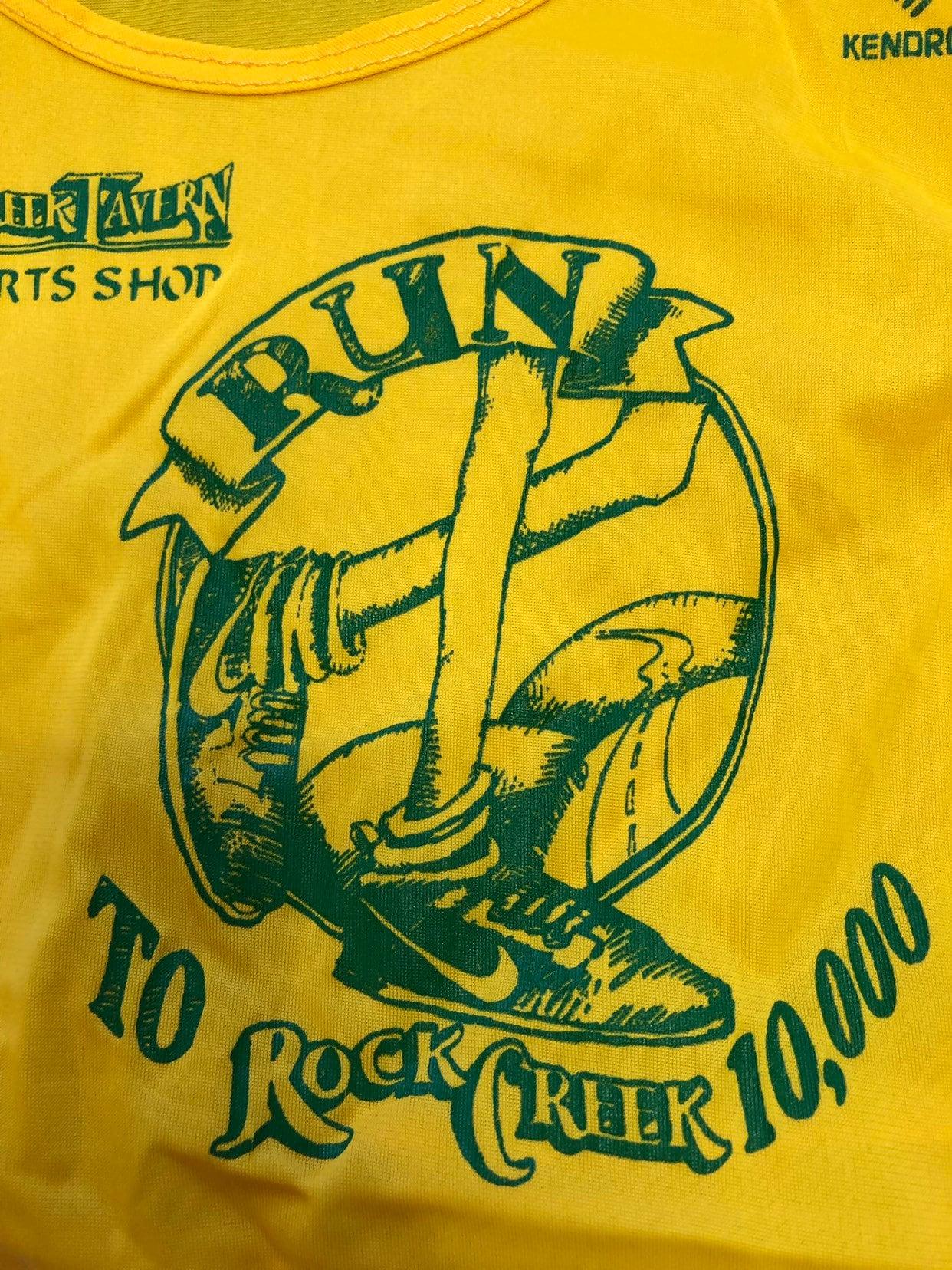 Nike Jersey Vintage 80s Race Racing Mesh Mesh Mesh Nylon Zapatillas Swoosh Run Rock Creek Shirt tamaño Large 2eec9c