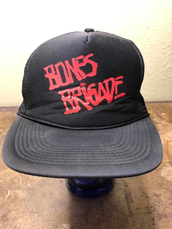 Bones Brigade Cappello Vintage Powell Peralta SnapBack Nero Trucker Mesh Skater