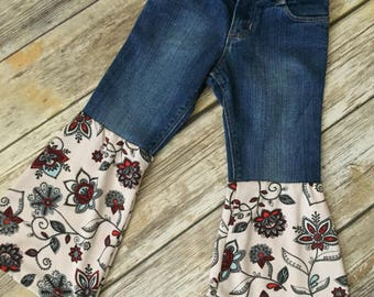 Paisley Floral Bellbottoms GIRLS SIZE 3T