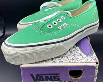 Vans Made In USA Emerald Boys Sz 3 1/2 3.5 Vintage 80's 90's NOS Authentic 44