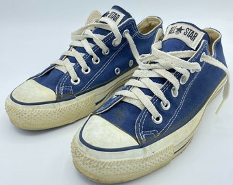Vintage Converse All Star Made In USA Sz 4.5 5 4 1/2 Blue