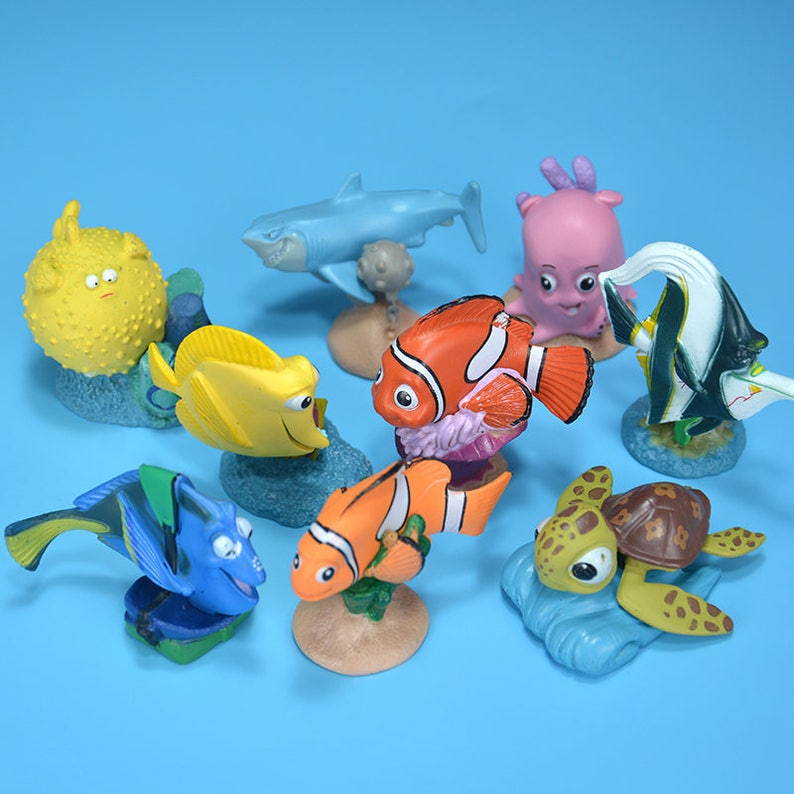 c8c343bf23a CAKE TOPPER 9 pcs Finding Nemo 9 Figure Set Custom Wedding