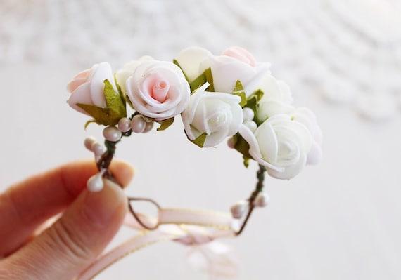 Woodland corsage rose wrist corsage bridal cuff bracelet etsy image 0 mightylinksfo