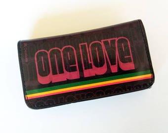 One Love, Tobacco Case, Vegan Tobacco Pouch, Vegan Leather, Leather Tobacco Pouch, Rolling Accessories, Smoking Accessories, Tobacco Bag