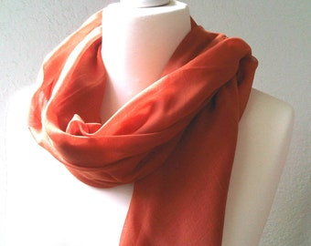 Chiffon scarf oversized shawl cinnamon pareo light scarf large head scarf fifties style ladies accessories shawl