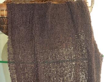 NEWBORN STRETCH open weave knit swaddle wrap, stretch baby blanket, baby hammock, photo props,stretch wrap, fashion knit scarf, expresso