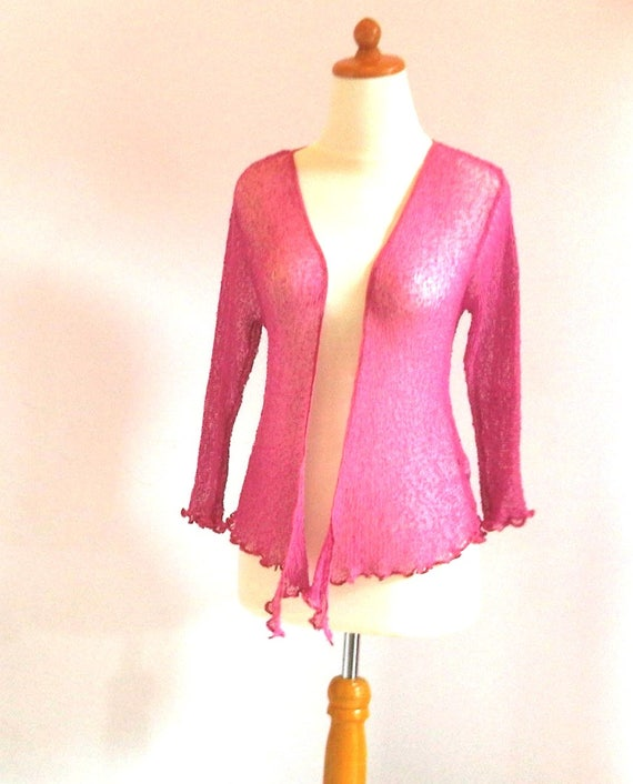 5a0367e5a3d85 Bolero pink shrug stretch cardigan raspberry ladies cardigan | Etsy