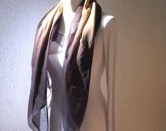 Chiffon scarf XL CAPPUCCINO fine headscarf fifties style oversize scarf large shoulder scarf chiffon scarf accessory scarf