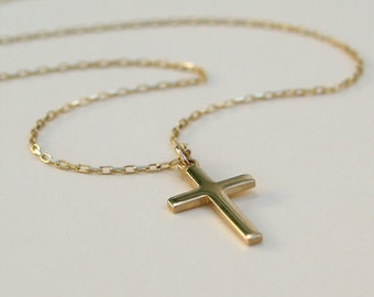 0d1ee1a8f 9ct yellow gold cross pendant - 9k yellow gold - 9ct yellow gold diamond  cut trace chain - Cross pendant and chain
