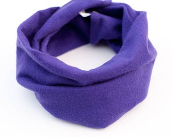Purple baby infinity scarf, Purple flannel scarf for toddler, Baby cowl, Dark purple, Baby photo props, Baby scarf with snaps, Winter scarf