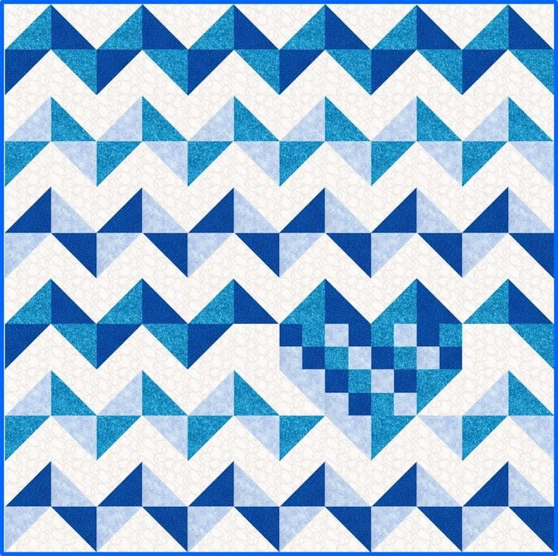 iHeart Chevrons Quilt Pattern PDF