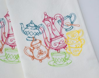 pretty tea towels etsy