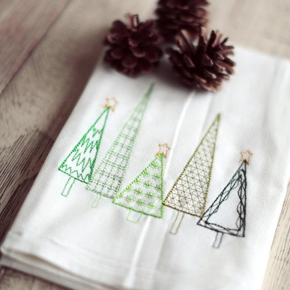Flour Sack Towel Poinsettia Christmas Gift Kitchen Towel Holiday Dish Towel Hostess Gift Christmas Decor