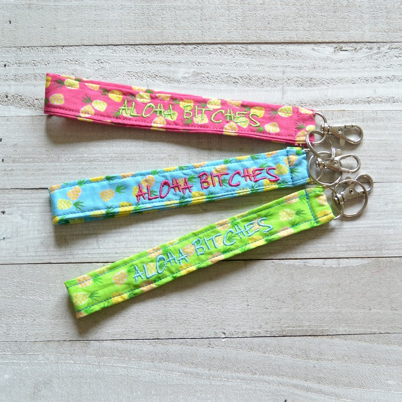 3fe582470569e ALOHA BTCHES Lanyard Wrist or Neck Lanyard Pink Blue or