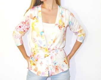 Digital / PDF Sewing Pattern Women's Jersey Knit Cardigan Top  -  (sizes 38-54) n.44