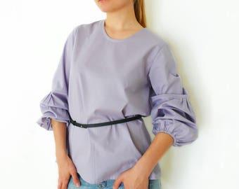 PDF Sewing Pattern Women's Cotton / Crepe de chine / Georgette /  Linen Shirt / Blouse Sizes 38-40-42-44-46-48-50-52 n.53