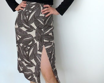 PDF Sewing Pattern N.89 High waisted Midi Pencil Skirt Italian Sizes from 38 to 54