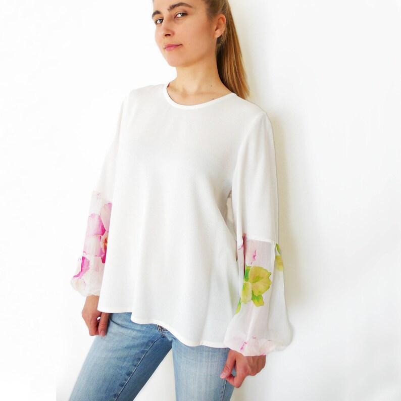 6242d1377072 Cartamodello Donna in formato PDF blusa in cotone   crepe de