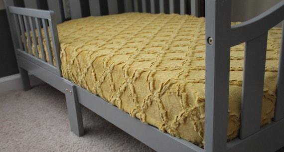 Antique gold mustard yellow lattice minky crib sheet baby etsy