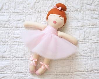 COLETTE  ** Fabric Doll, Cloth Doll, Rag Doll, Nursery Decor, Plush Doll, Heirloom Doll, Baby Gift