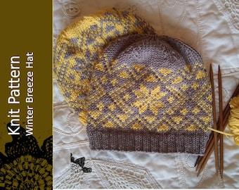 Winter Breeze Hat PDF Pattern