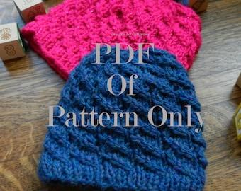 Baby Helix Hat PDF Knitting Pattern
