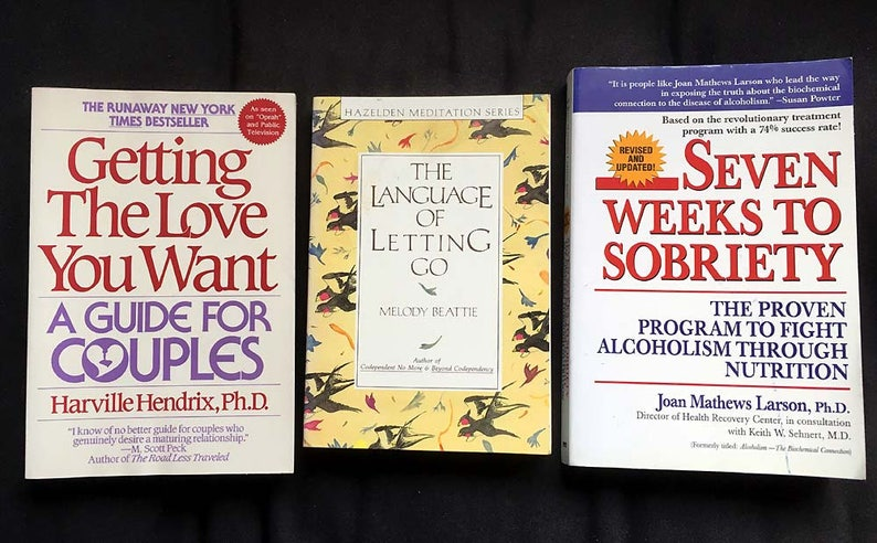 3 Books On Sobriety Getting The Love You Want A Guide For Couples The Language Of Letting Go Seven Weeks To Sobriety Self Help