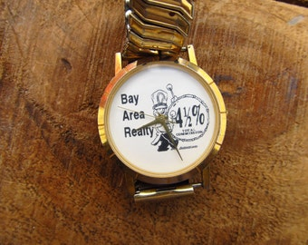 Vintage Advertising Watch - Bay Realty Advertising Watch - Image Watches, Inc. California