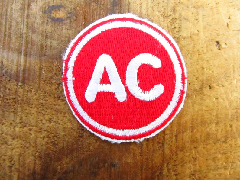 Vintage New Old Stock AC Sprk Plug Patch -AC Delco Patch - 70's Spark Plug  Patch