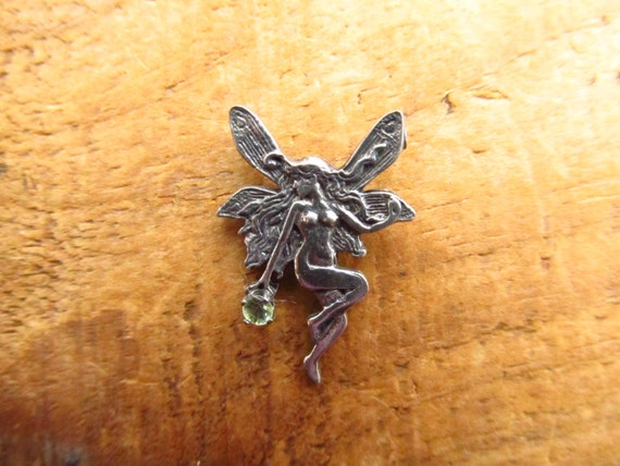 Vintage Sterling Silver Fairy Charm - Sterling Fae