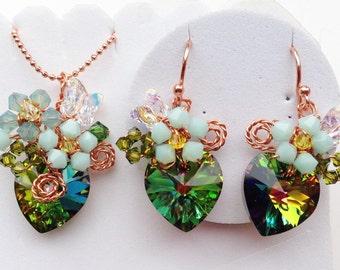 women gifts mom gifts women jewellery Peacock jewellery green jewellery