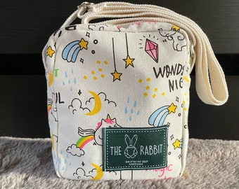 Children star Canvas Mini cross body  bag , colourful mini bag, kids and teen stocking filter, unicorn accessories, christmas gift for kid.